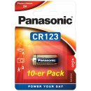 CR123A Panasonic Lithium 3Volt Blister 10er Pack