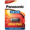 CR123A Panasonic Lithium 3Volt Blister 100er Pack